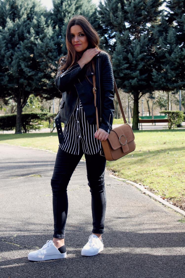 outfit con bolso de ante de Zara 2016