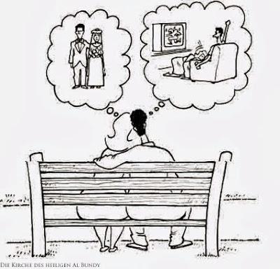 Woran Mann und Frau lustig denken - Hochzeit und Fernsehen