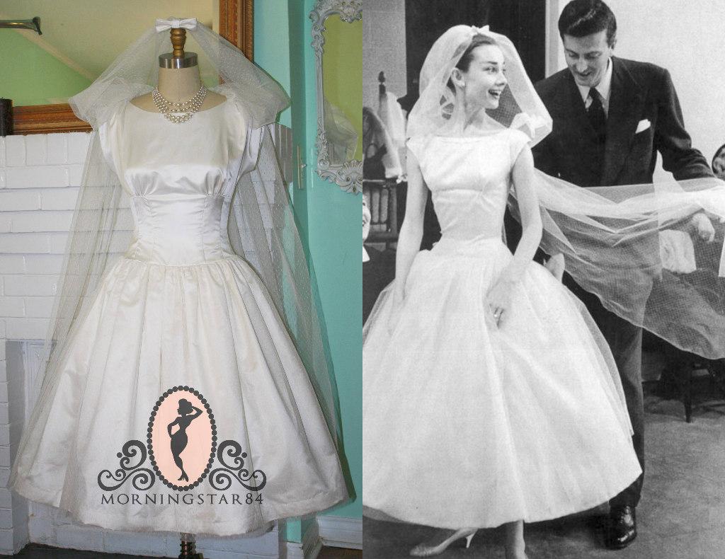 Morningstar Pinup: Audrey Hepburn's Funny Face Wedding Dress