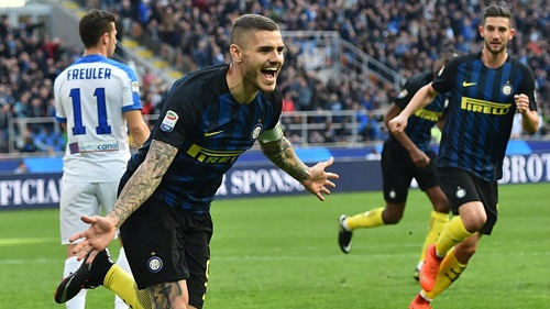 Icardi đã lập cú hat-trick trong trận đấu trước Sassuolo