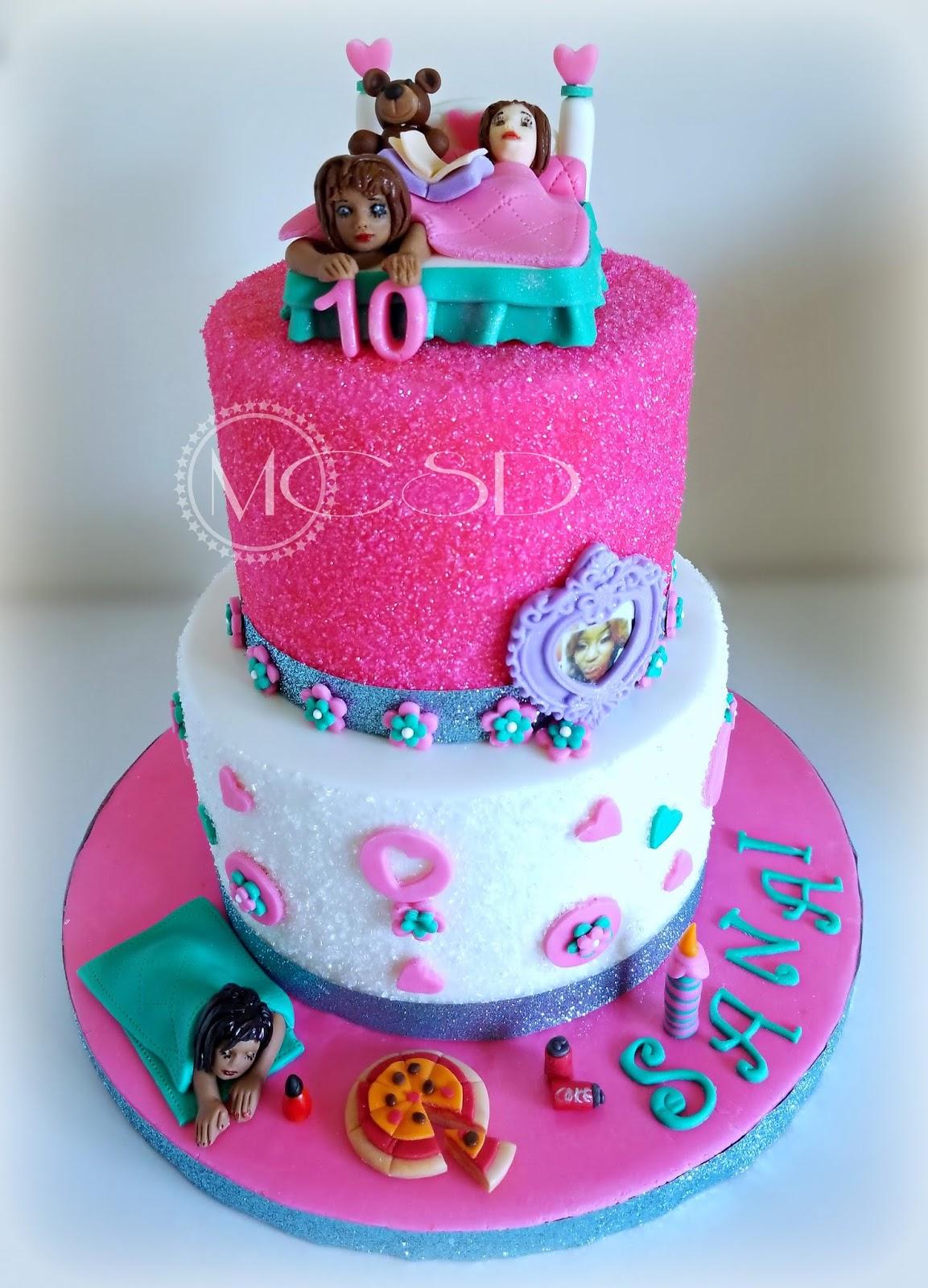 Slumber Sparkle Birthday Party Cake