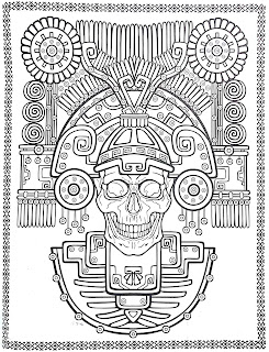 Mandala Skull Coloring pages for kids