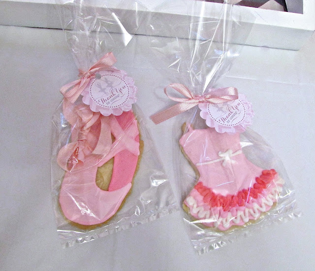 ballerina sugar cookies for birthday party