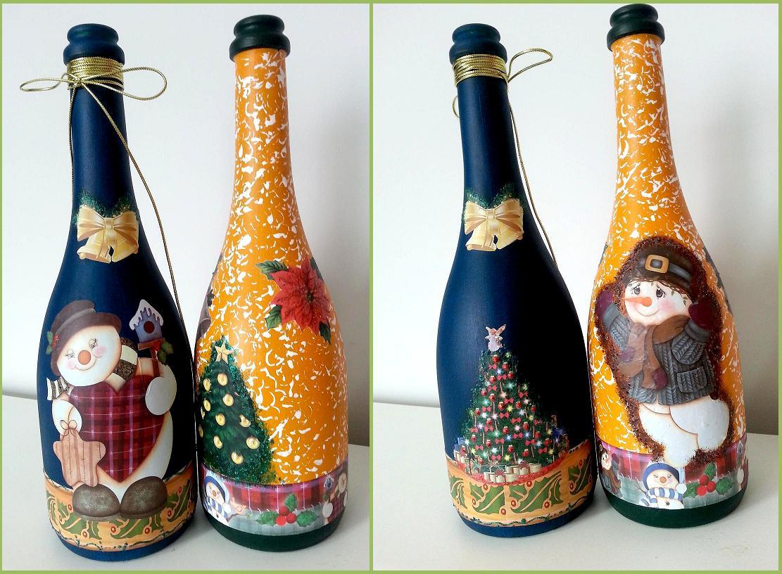 Aparador Sala Ikea ~ DALVA DAY 2016 Decoraç u00e3o de Natal com garrafas de vidro