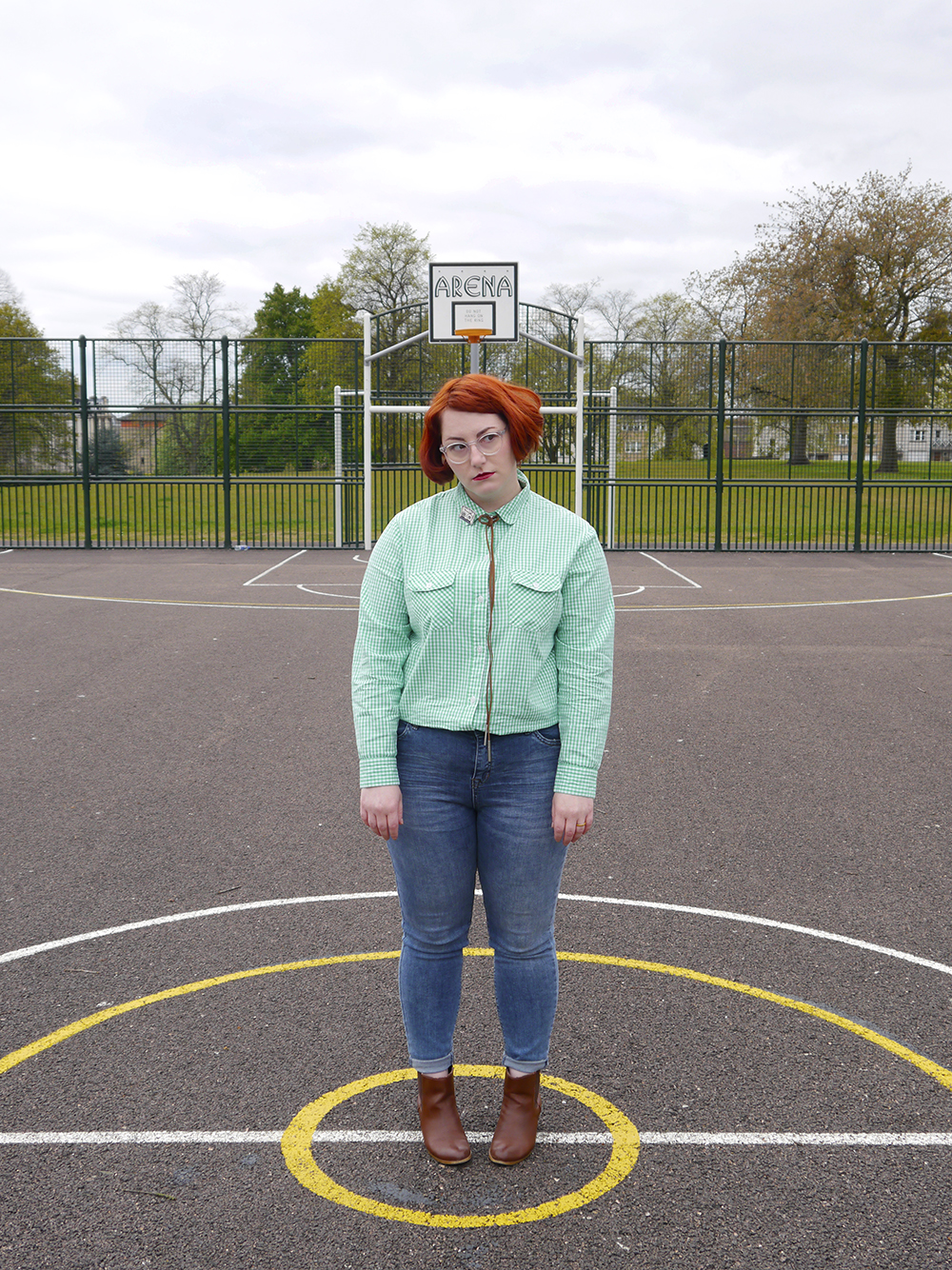 Unlikely Style Icon, blog birthday, Wardrobe Conversations, Scottish bloggers, Scottish fashoin bloggers, Dundee bloggers, Pedro Sanchez, Vote for Pedro, Napoleon Dynamite style, Napoleon Dynamite costume, easy costume idea, film costume, movies costume idea, charity shop find, checked shirt, green gingham shirt, little lies boho necklace, cassestte brooch, cowgirl style, western style, simple wild west outfit, new look jeans, zara brown boots, bad hair day