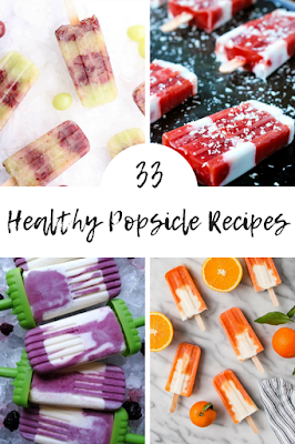 How to make 33 healthy popsicle recipes. These recipes sugar free have yogurt, coconut milk, and fresh fruit.  Make homemade popsicles for kids so they are healtheir for clean eating. It's easy to make DIY ice pop recipes for kids. This summer, make homemade ice pops with recipes homemade fresh fruit.  Kids and adults will both love these!  #icepops #recipe #homemade #popsicle