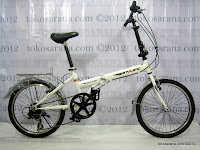 A 20 Inch TwoWheel 6 Speed Shimano Folding Bike