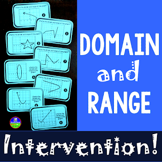 Teaching ideas for domain and range in special education algebra 2
