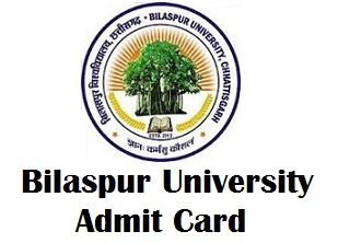 BU Bilaspur University Admit Card 2018