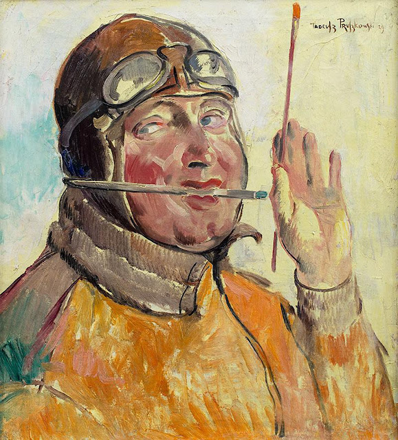 Tadeusz Pruszkowski, Self Portrait, Portraits of Painters, Fine arts, Portraits of painters blog, Paintings of Tadeusz Pruszkowski, Painter Tadeusz Pruszkowski
