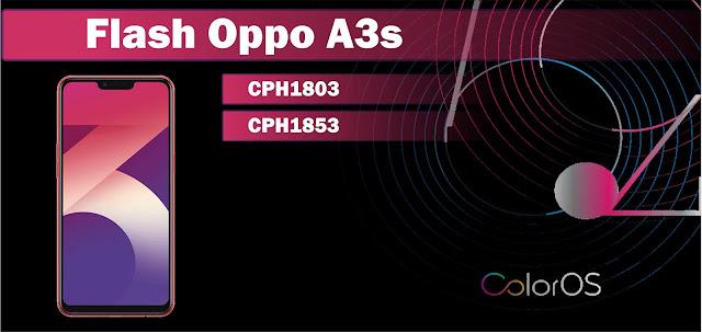 Cara Flash Oppo A3s CPH1803 dan CPH1853 Botloop 100% Berhasil