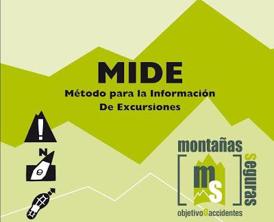 MIDE - Método para la Información de Excursiones +info