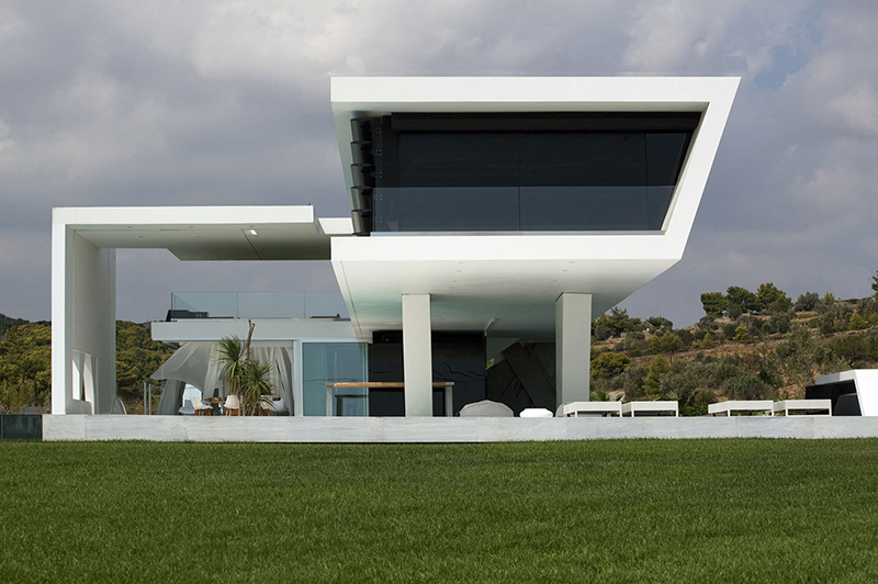 Huge Modern Athens Home With A Squash Court, Gym and Three Swimming on modern greek interior design, modern greek style homes, modern greek architecture in greece,