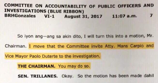 Trillanes' Triad Accusation Against Vice Mayor Pulong Duterte Laughed Off