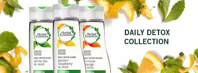 Rambut Segar dan Sihat dengan Herbal Essence Daily Detox Shine !