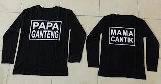Jual Online LP Papa Ganteng Couple Murah Jakarta Bahan Combed Terbaru.