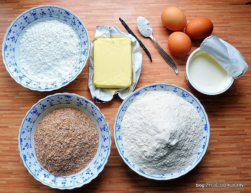 mazurek, wielkanoc, mąka, otręby, ciasto