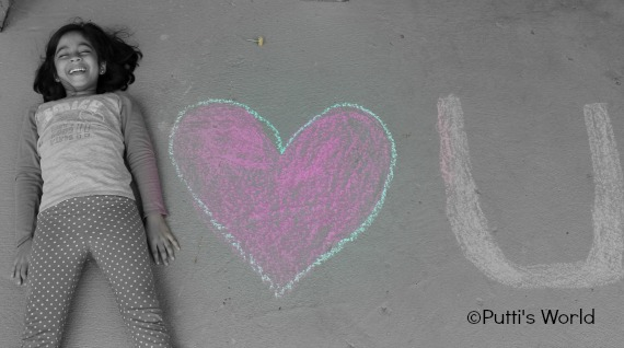 Valentine Photo Card Creative Chalk drawing
