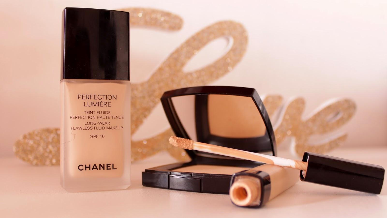 Produits pour le teint Chanel, Fond de teint, Anticerne et poudre
