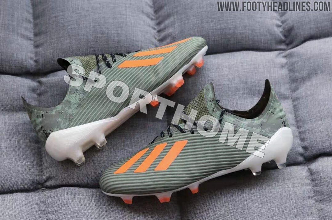 New Adidas Cleats 2020 Military Green / Orange Adidas X 19 'Encryption Pack' 2019 2020
