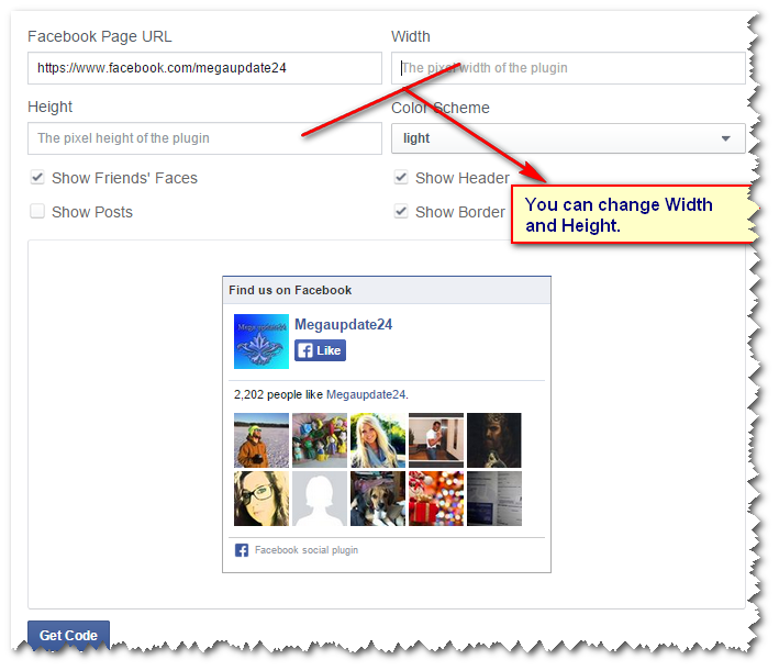 How to add Facebook Like or Fan Box in Blogger Layout2