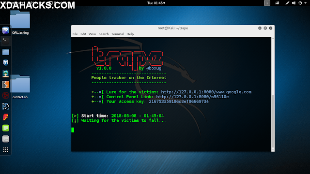 How To Easily Track Anyones Location Using Kali Linux Tool - Trape https://www.xdahacks.com