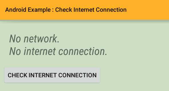 android - How to check internet connection
