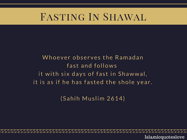 Don't let this opportunity pass by, by fasting just  6 days of shawwal  (this month) you'll be rewarded as if you've been  fasting a whole year. Tag someone who you want to fast the 6 days with..