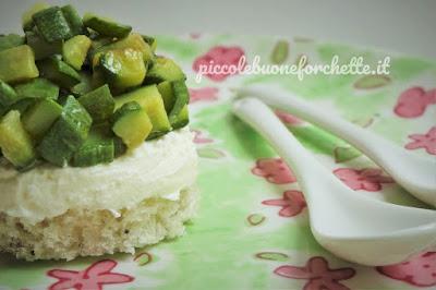 foto Ricetta cheesecake di zucchine al profumo di maggiorana per bambini