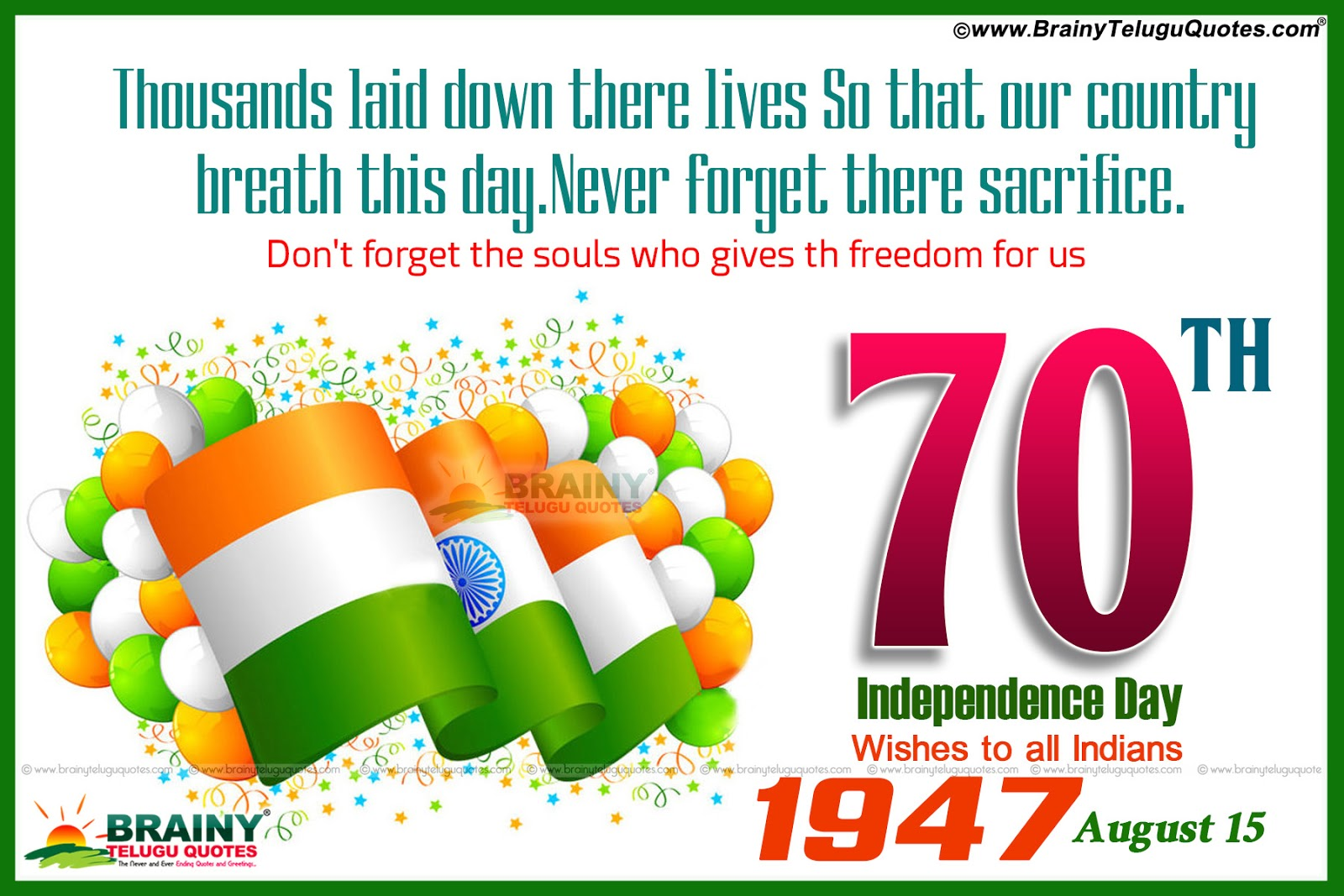 Advance independence day wishes in english language proud to be indian quotes and nice images top independence day images and nice quotes kristyandbryce Gallery