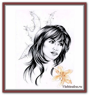 Cross stitch chart «KAM 194 Lily + pm - artwork by Karen Middleton»
