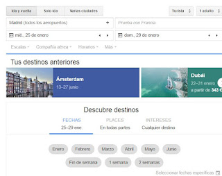 Google Flights, buscador de vuelos