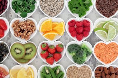 Diet rich in antioxidants