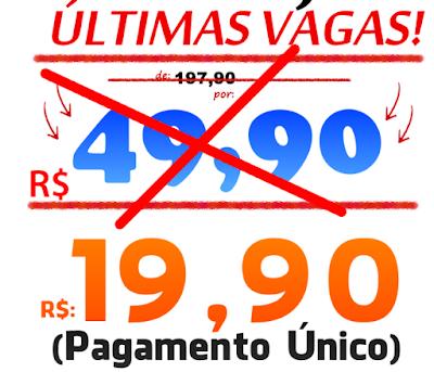 pagamento único de 19,90