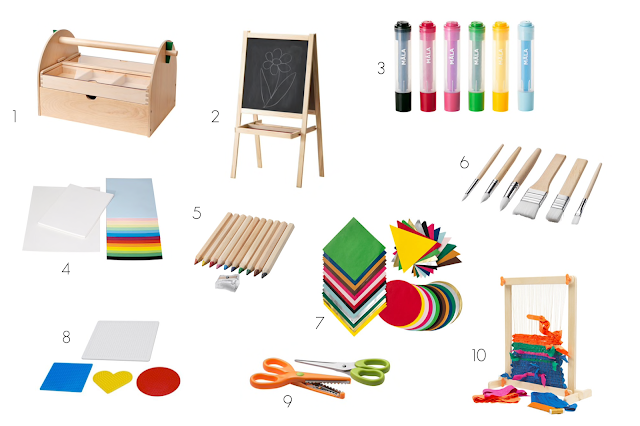 10 Montessori friendly art supply favorites from IKEA