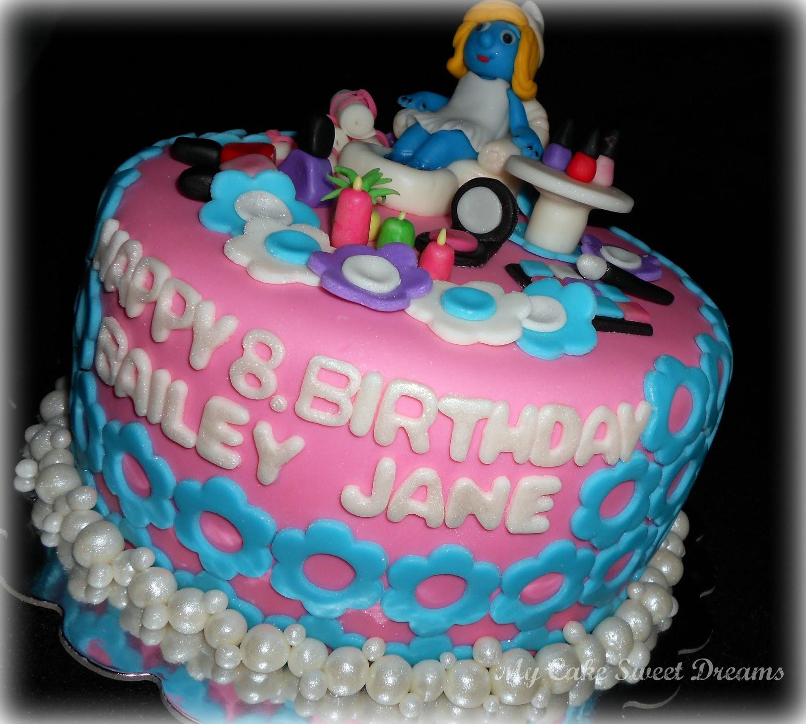 My Cake Sweet Dreams Spa Birthday Cake
