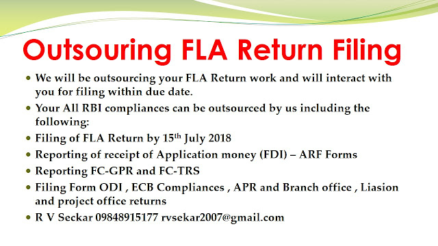 R V Seckar Consultant in FEMA , Corporate law , insolvency law and NBFC 09849015177 rvsekar2007@gmail.com,