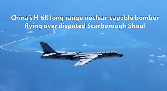 Nuclear-Capable Bomber Plane Ng China Pinalipad Sa Scarborough Shoal