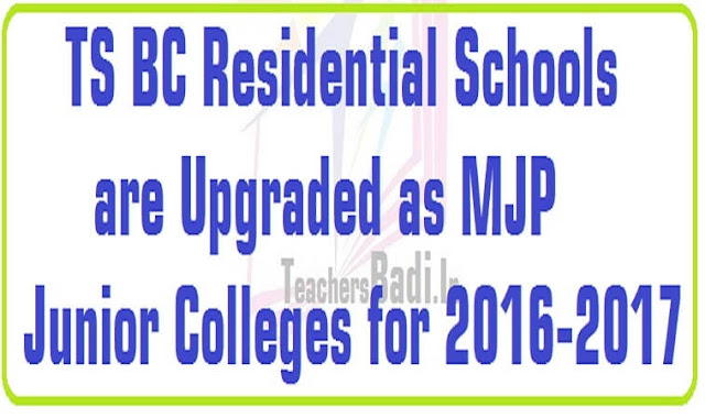 TS BC Residential Schools,MJP Junior Colleges,MJP RJCs list