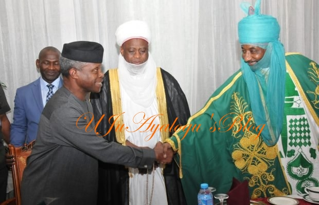Quit notice on Igbos: What Osinbajo told Northern traditional rulers in Aso Rock