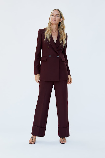 ZARA Double Breasted Berry Toned Suit - Autumn/Winter 18 FASHION