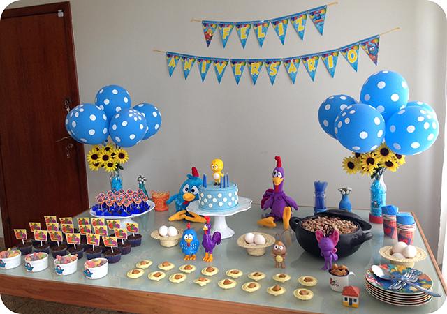 Decoração de Festa com a Turma da Galinha Pintadinha
