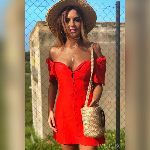 Μοντέρνο κοντό κόκκινο φόρεμα STEFFY