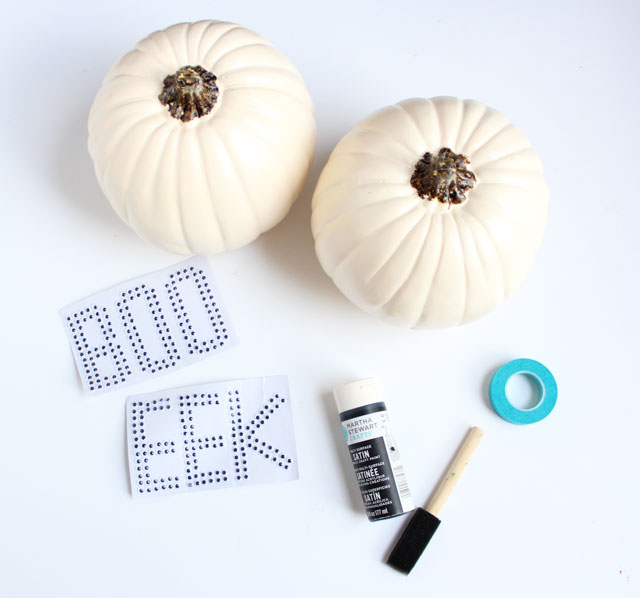 How to make googly eye Halloween pumpkins