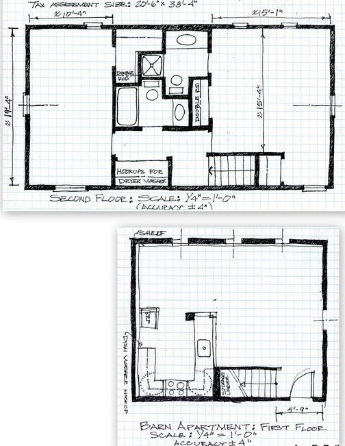 2 Bedroom Barn Apartment Plans