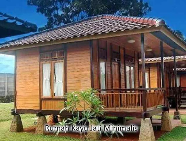 rumah kayu jati minimalis
