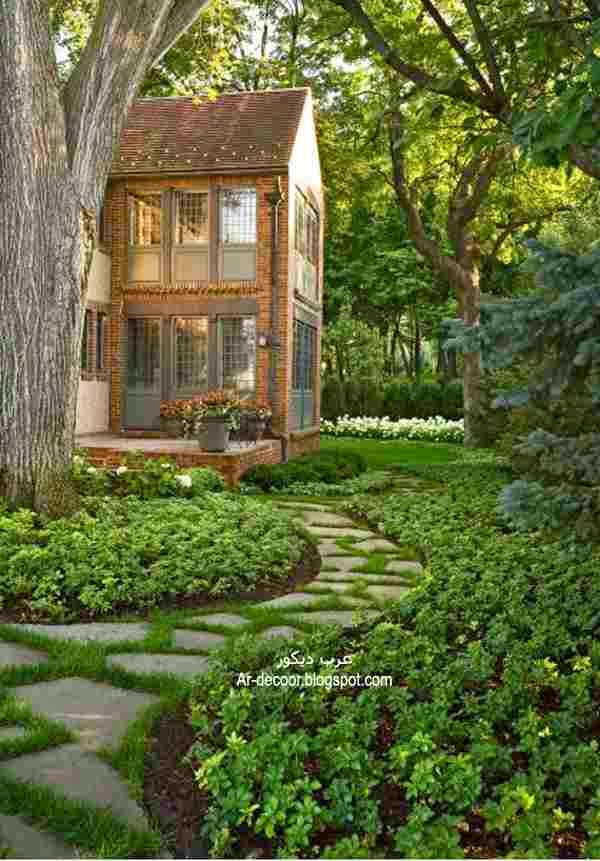 مناظر بيوت في الطبيعة