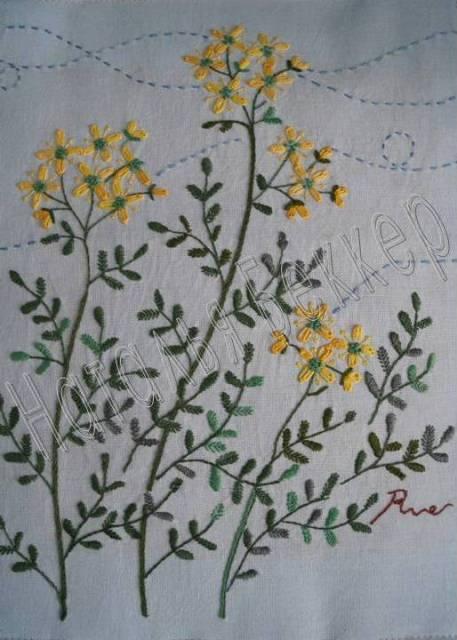 травяная вышивка