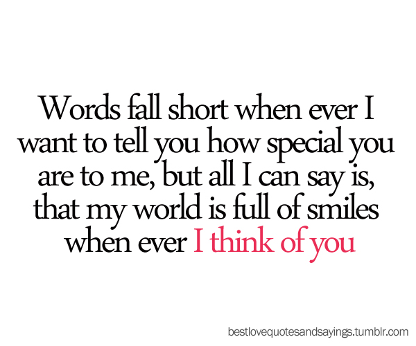 I Love Thinking About You Quotes