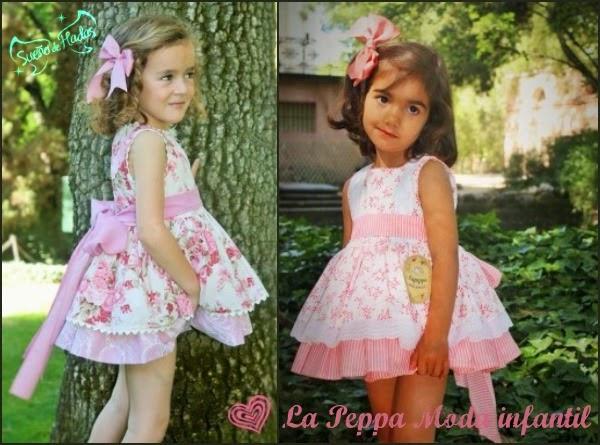 vestidos estampado de flores niña - La Peppa moda infantil